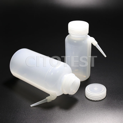 One-piece Wash Bottle, Wide-mouth, LDPE Material