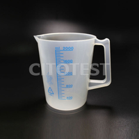 Beaker with Printed Graduation and Handle, PP Material
